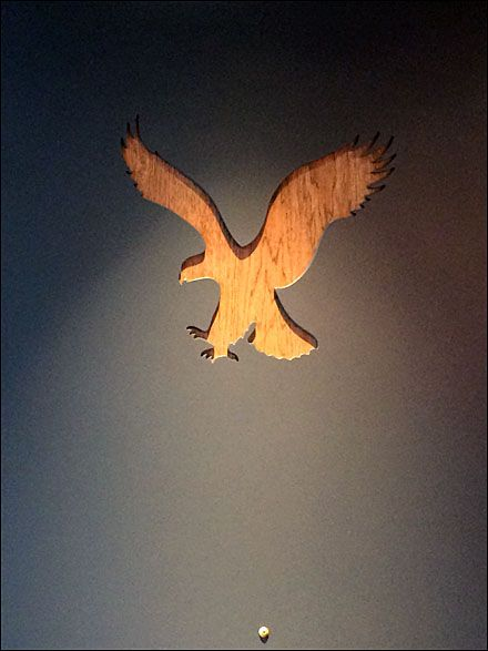 American Eagle Logo Die Cut From Metal As Store Entry Branding