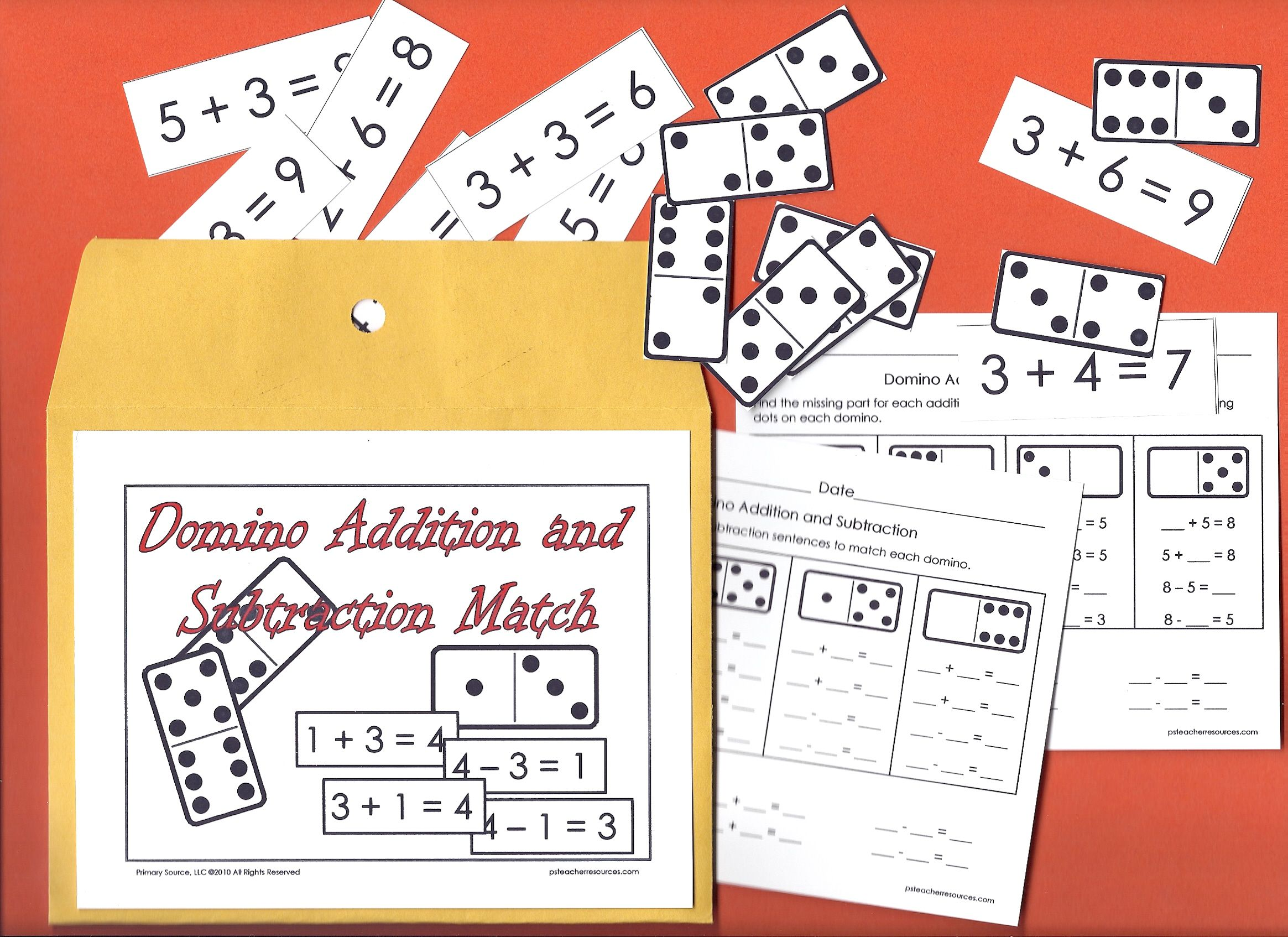 Addition Subtraction Match Dominoes