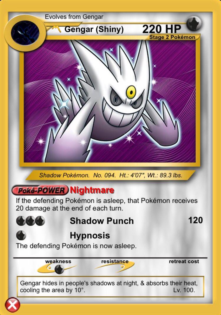 Shiny Mega Gengar Cool Pokemon Cards Pokemon Pokemon Cards