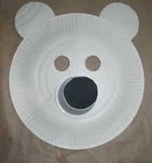 masque d 39 ours avec assiette en carton recherche google. Black Bedroom Furniture Sets. Home Design Ideas
