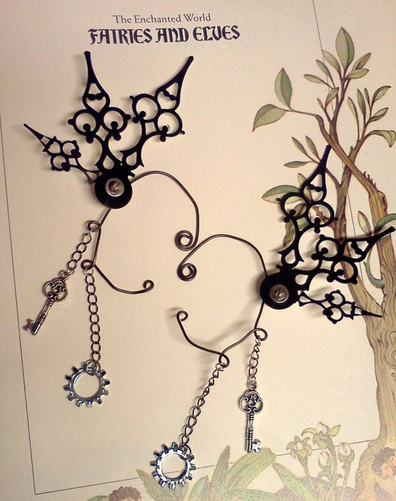 Deluxe vapore Fae Clockwork Ali Mariposa-Over Ear di Antickquities