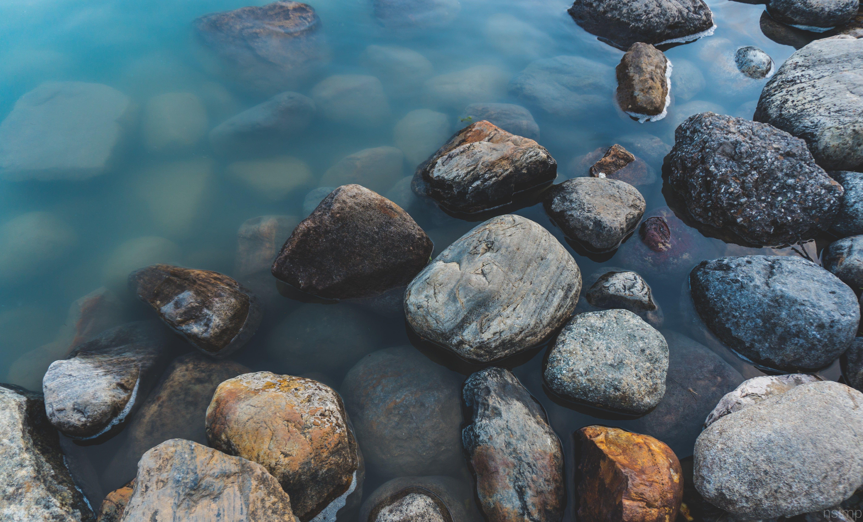 Rocks Water Nature 5k Wallpaper Hdwallpaper Desktop Nature Wallpaper Landscape