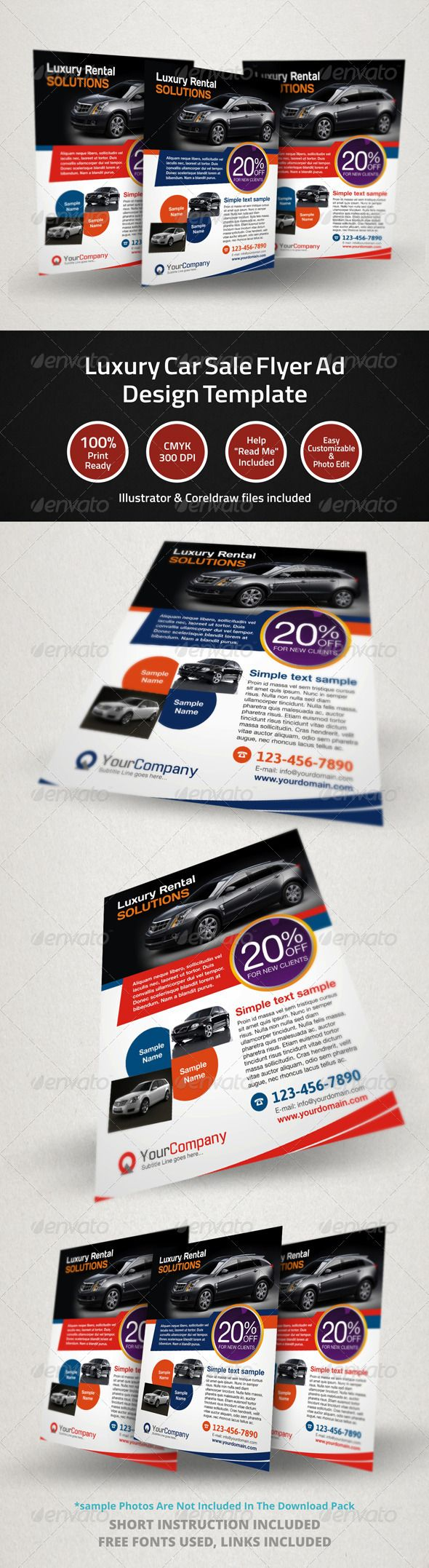 Car For Sale Flyer Luxury Car Sale Flyer Ad Design Template  Mktg Designs  Automotive .