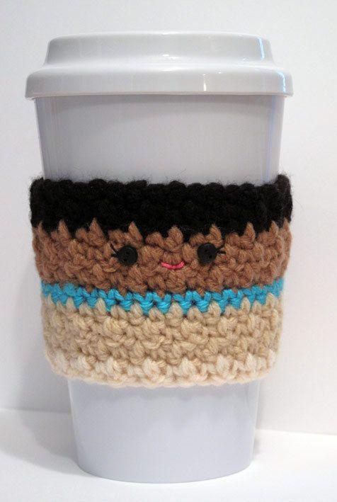 Taza de café acogedor de ganchillo de Pocahontas | Tazas crochet ...