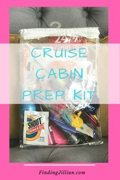 Cruise Cabin Prep Kit organization for cruise stateroom Finding Jillian Blog