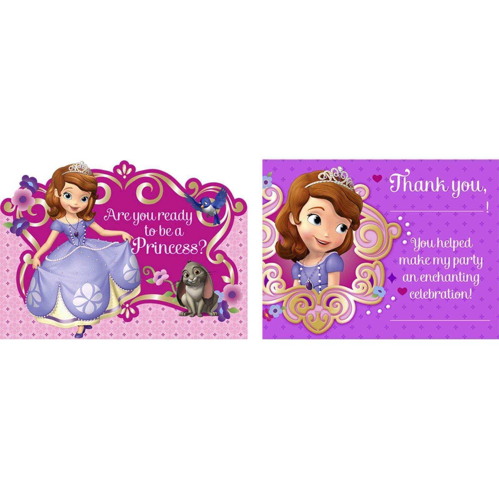 Disney Junior Sofia the First Invitations & Thank-You Postcards ...