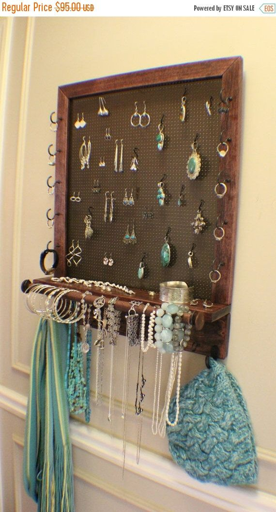 Stunning Dark Cherry and Dark Bronze Jewelry Organizer with Bracelet