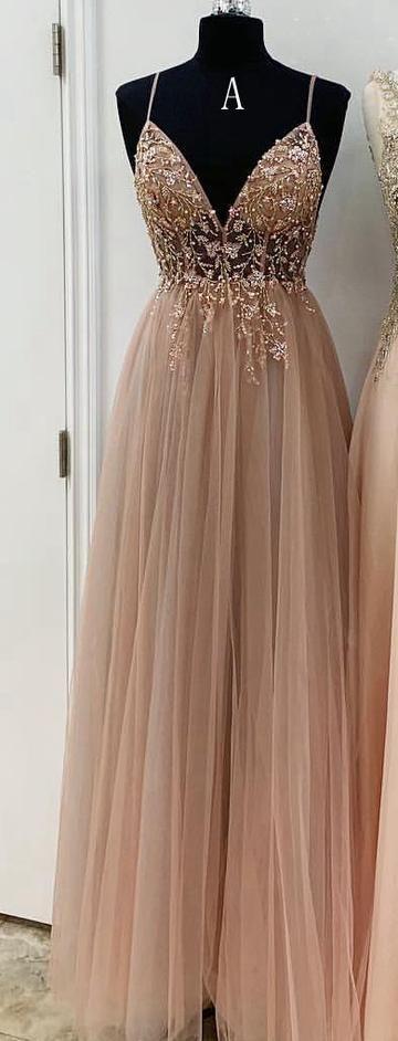 A-Linie Perlen langes Abendkleid 8. Graduierung Kleid ...