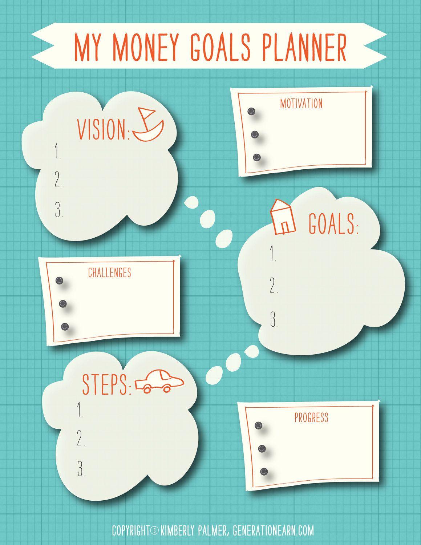 Money Goals Planner Printable