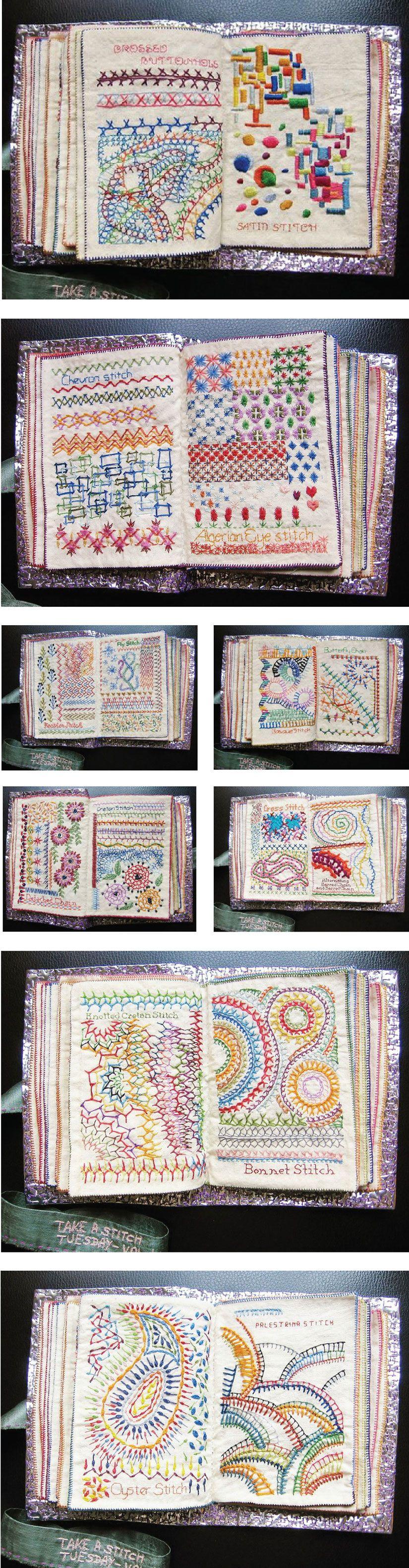 Admiring The Embroidered Fabric Book Created By Bangalorebased Stitcher,  Maya Matthew Her