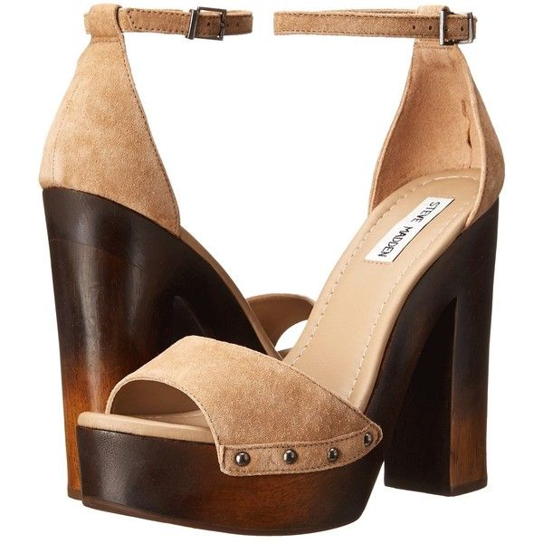 Steve Madden Raynah (Taupe Suede) Women's Shoes ($78) ❤ liked on Polyvore