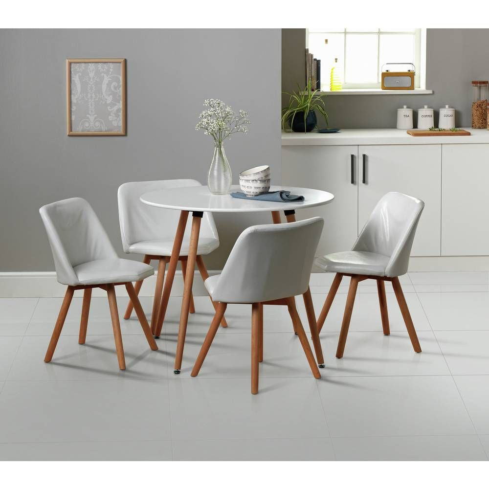 Argos Small White Table And Chairs: Buy Argos Home Quattro White Dining Table & 4 White Chairs