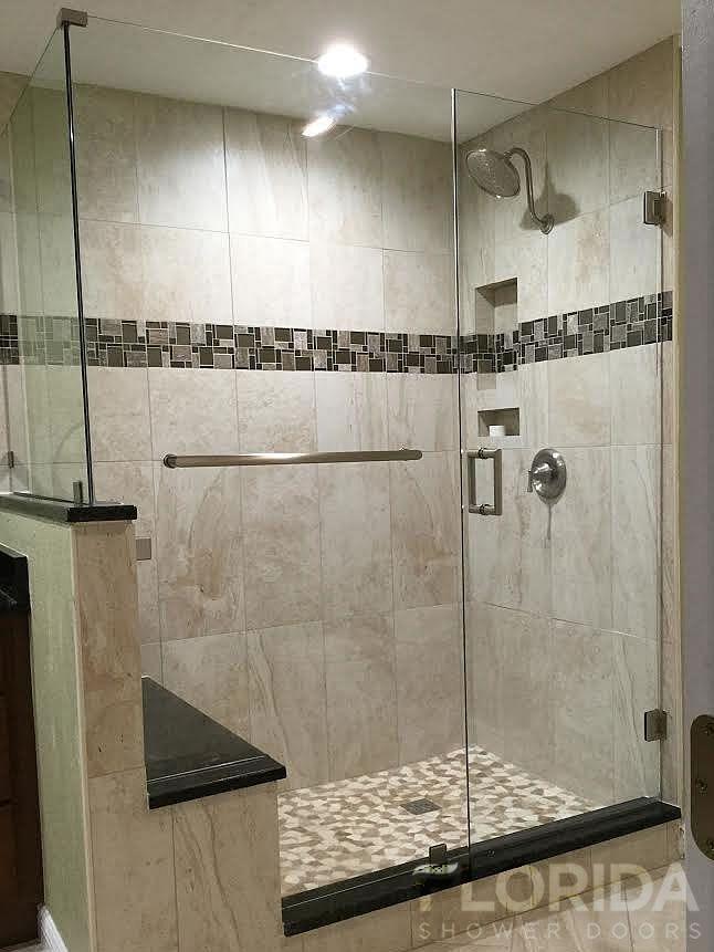 Minimalist Florida Shower Doors manufacturer in Florida specializing in custom glass shower enclosures Frameless Semi frameless Pivot and Framed shower enclosures Picture - Unique bathroom remodeling sarasota Review