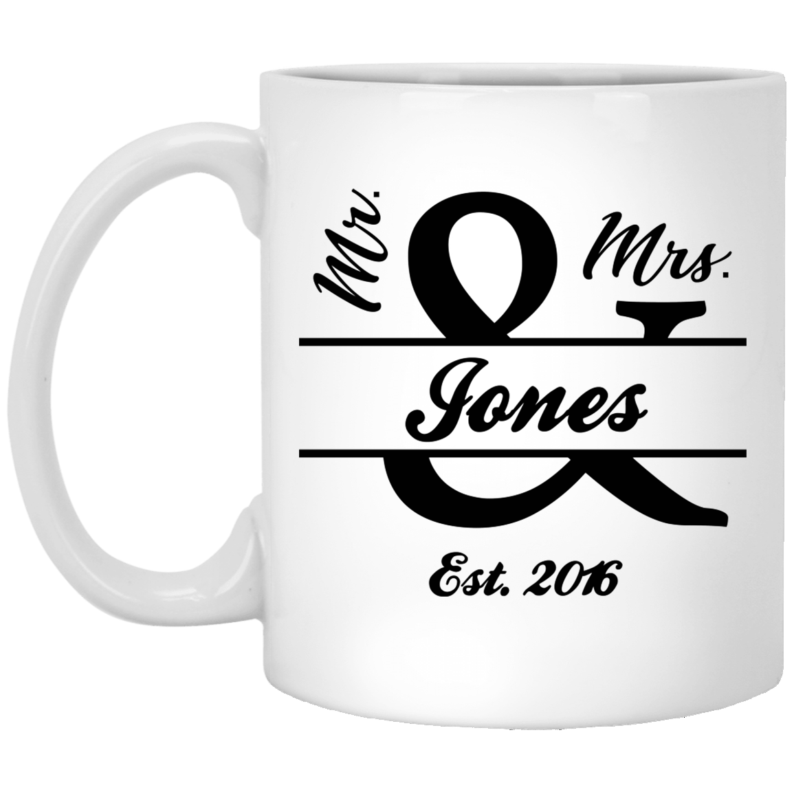 Mr And Mrs Jones Mr And Mrs Signs 5th Anniversary Gifts Funny Quote Coffee Mug Coffee Quotes Mugs Funny Quotes