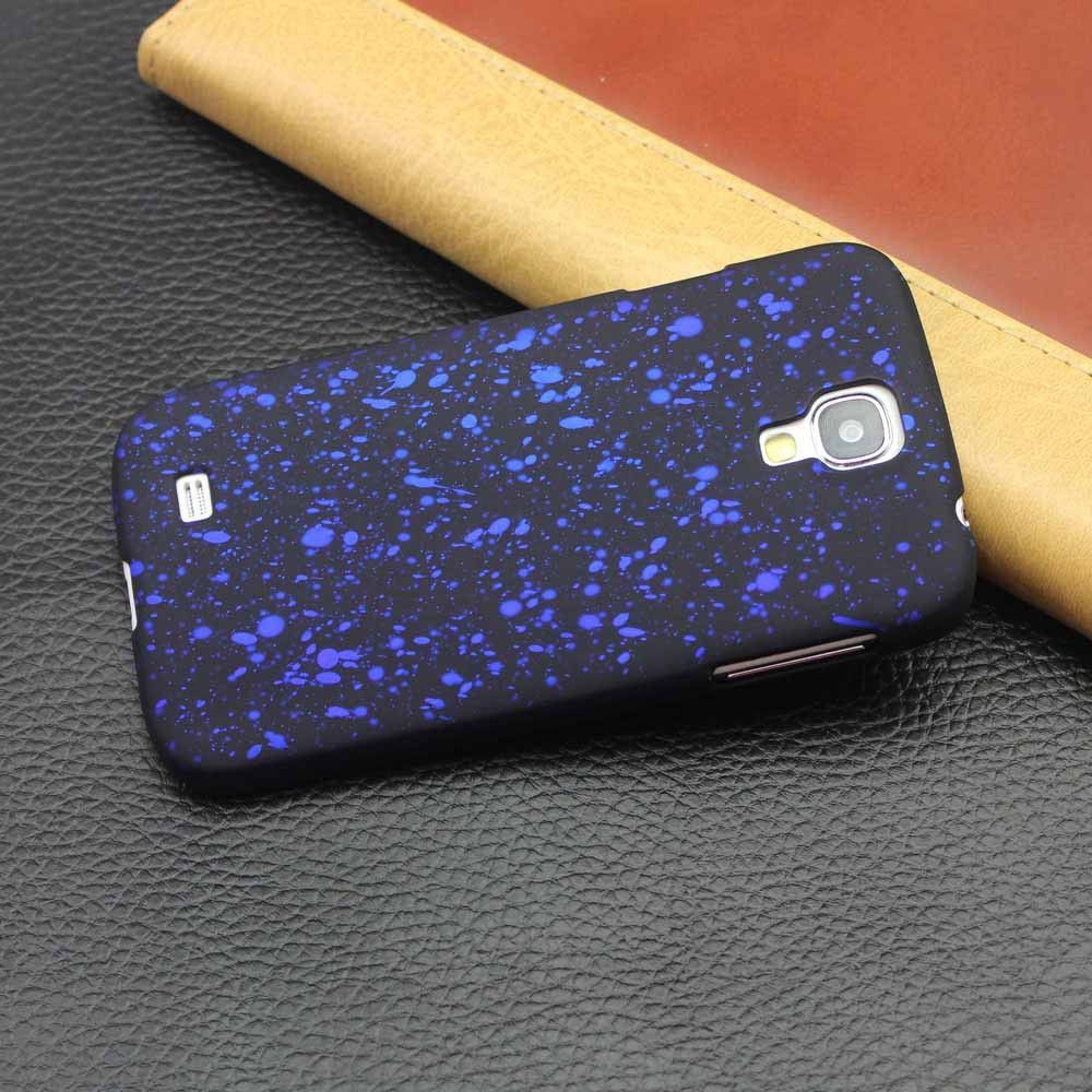 Bling Frosted Starry Sky Glitter Star Case For GALAXY S4/S5 Fluorescence 3D Visual Effect