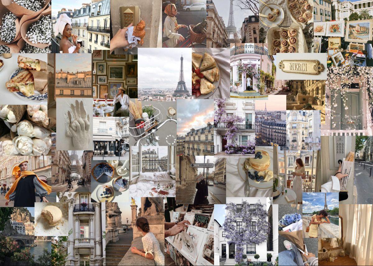 parisian aesthetic laptop wallpaper