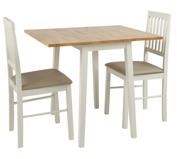 Vermont Extendable Garden Table And Chair Set: Home Kendal Extendable Wood Table & 2 Chairs -Two Tone