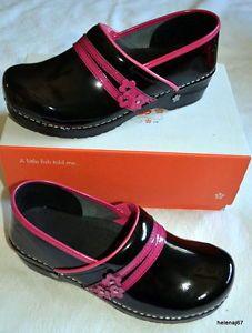 b32af0a880b6 40 Koi by Sanita Paris black pink patent leather clogs NEW 9 9.5 ...