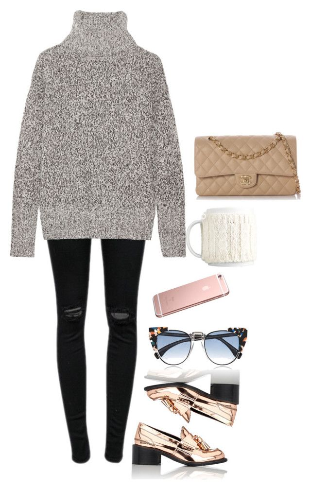 """""""fine by me"""" by indigo-atlantis on Polyvore featuring J Brand, Theory, STELLA McCARTNEY, Fendi and Chanel"""