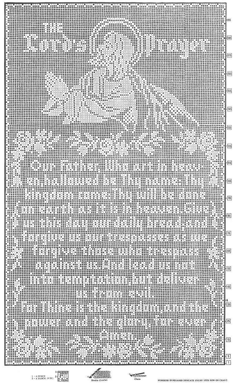 The Lord's Prayer Filet Crochet Wall Panel #703 chart | Free
