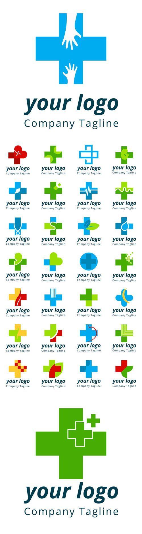 Vector Modern Medical Logos Pinteres