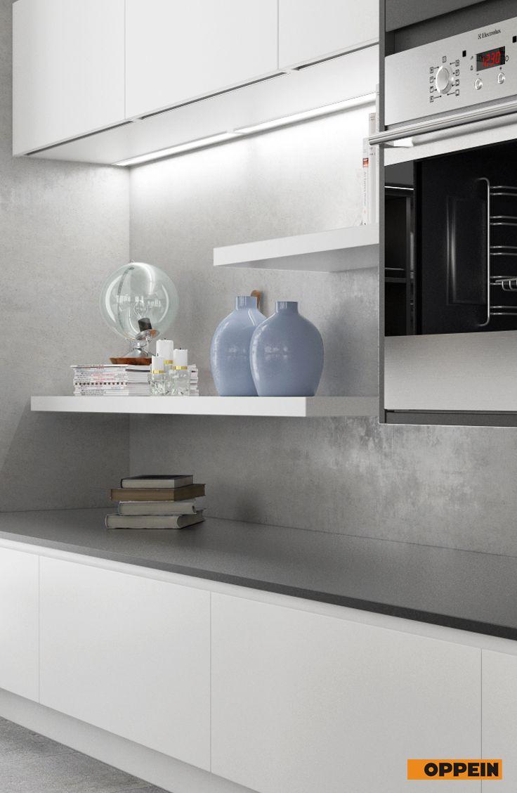 Modern White And Gray Matte Lacquer Kitchen Cabinet Home Decor Kitchen Design Kitchen Cabinets
