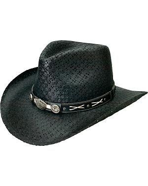80787d310ca Jack Daniels Soft Toyo Straw Cowboy Hat  Toyo straw construction. Black  hue. Black band with…  CowboyClothing  Westernwear  CowgirlBoots