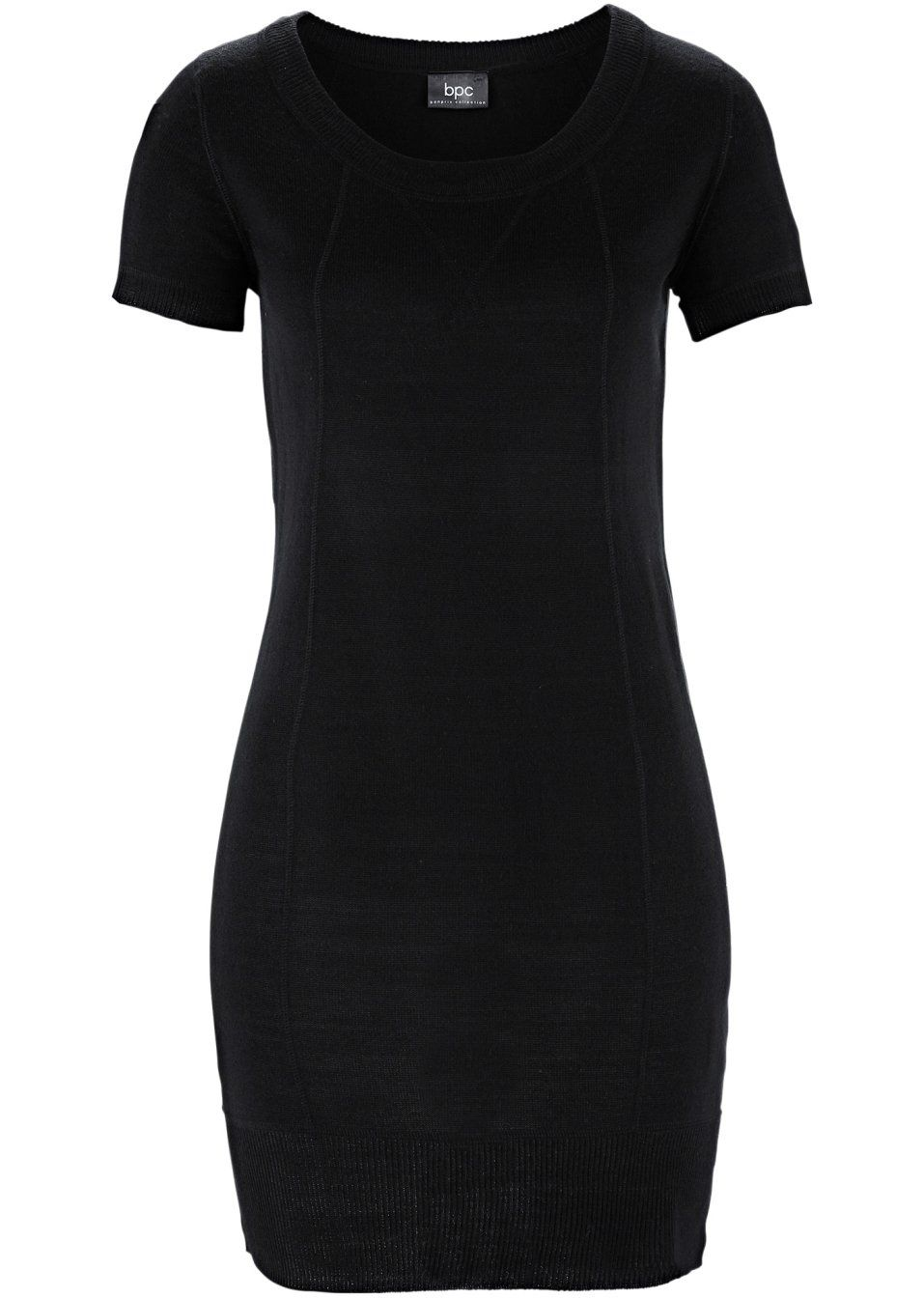 svart klänning kort ärm