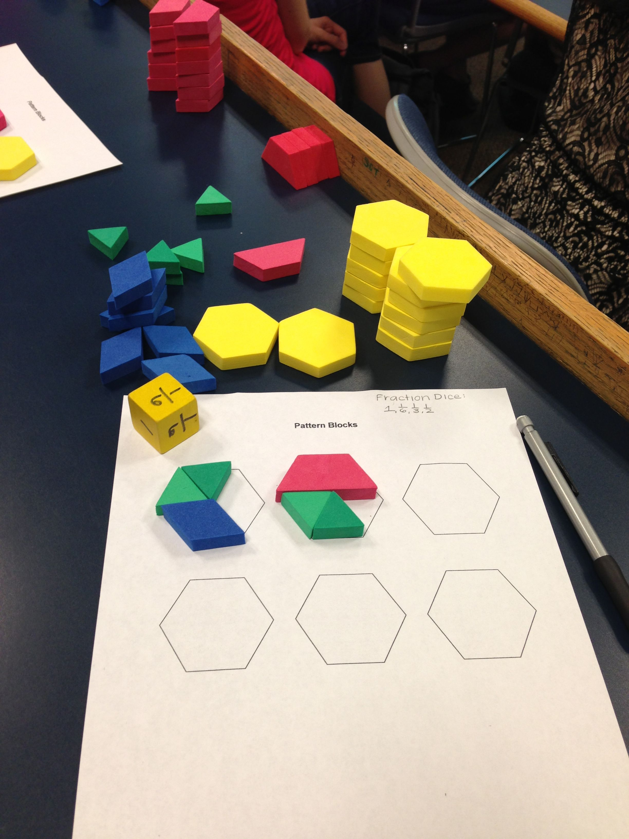 Fraction Game Student Roll Dice With Fractions Of 1 6 1