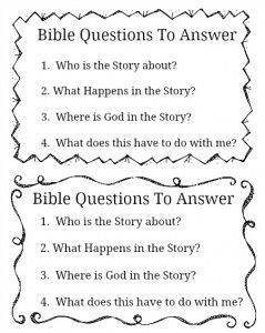 FREE Bible Study Printable for all ages! | Christianity and Bible