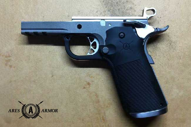 the rudius 1911 frame is an 80 build a firearm product from ares armory