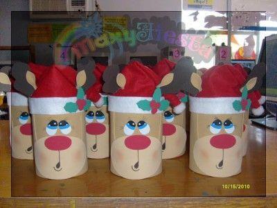 729d1c64f Dulceros Navidad Navideños (27) Manualidades Navideñas Con Reciclaje,  Manualidades Navidad, Bolsas De