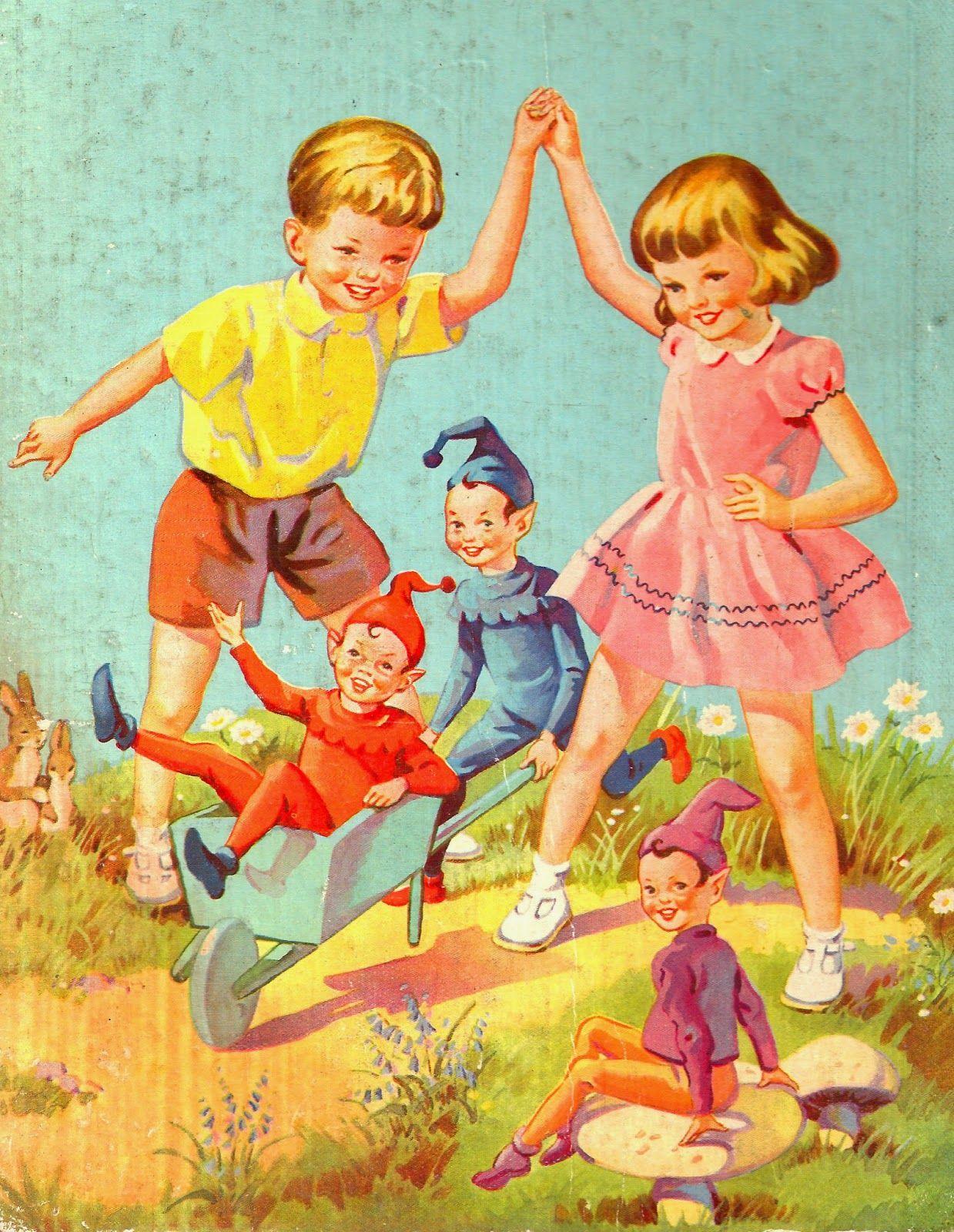 Vintage Children And Pixies Books-vintage Children'