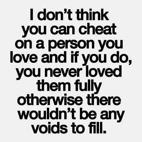 how can you tell when someone is cheating