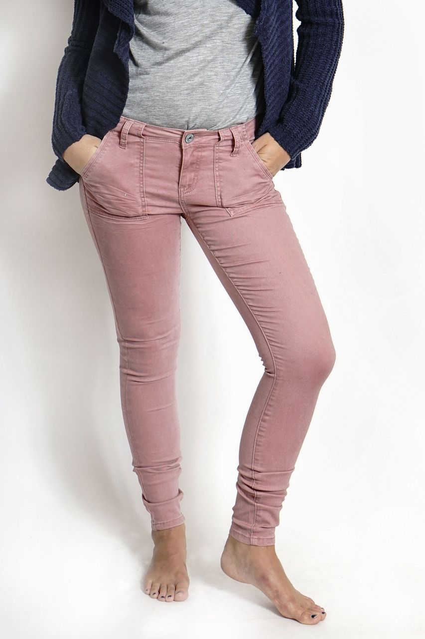 THE DUSTY ROSE SKINNY PANTS - Vanilla Star Jeans  cf10a9719