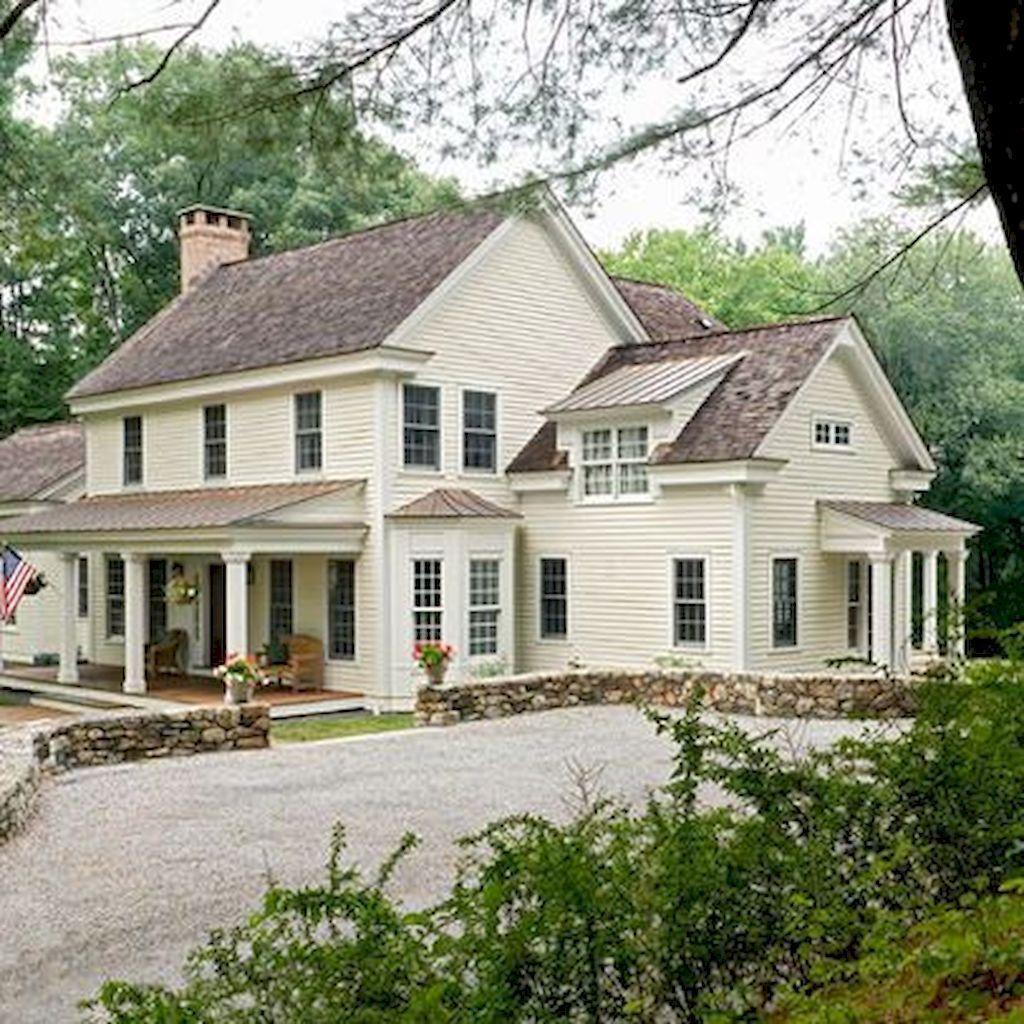 32 Stunning Colonial Farmhouse Exterior Design Ideas Housedcr Farmhouse Exterior Exterior Design Country House Decor