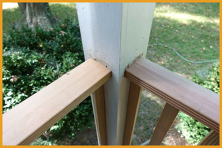 DIY Front Porch Railing Replacement Project #fallfrontporchdecor