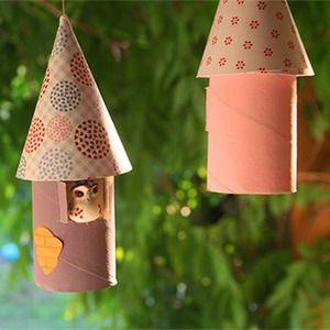M vil decorativo con rollos de papel manualidades de - Manualidades con rollos de papel ...