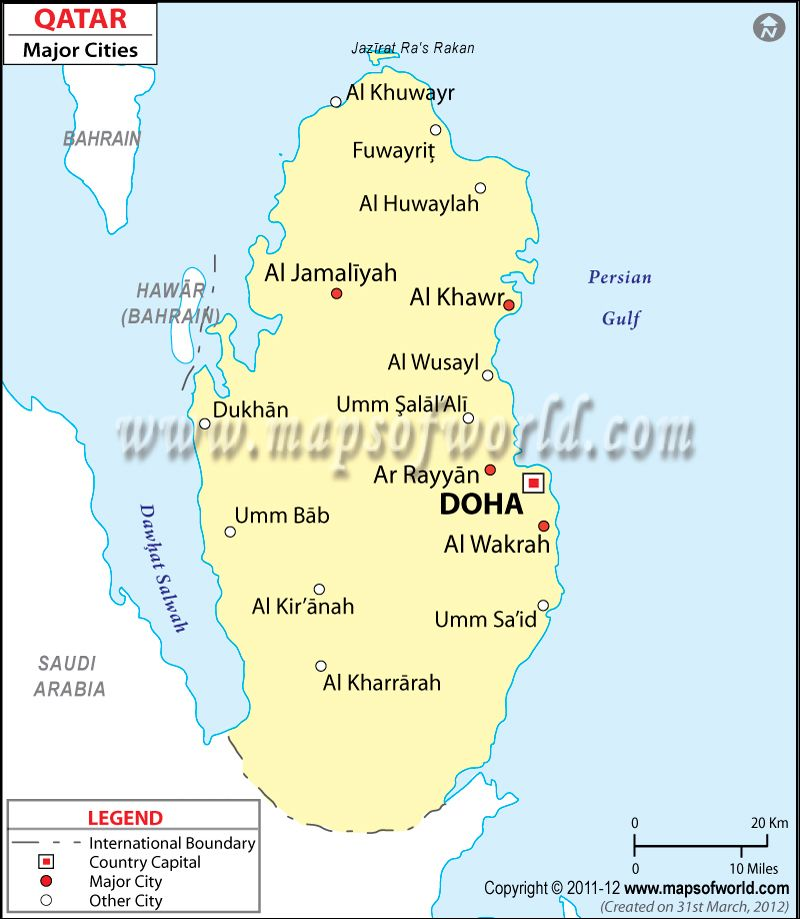 Qatar Cities Map Asia Map Pinterest City maps Asia map and City