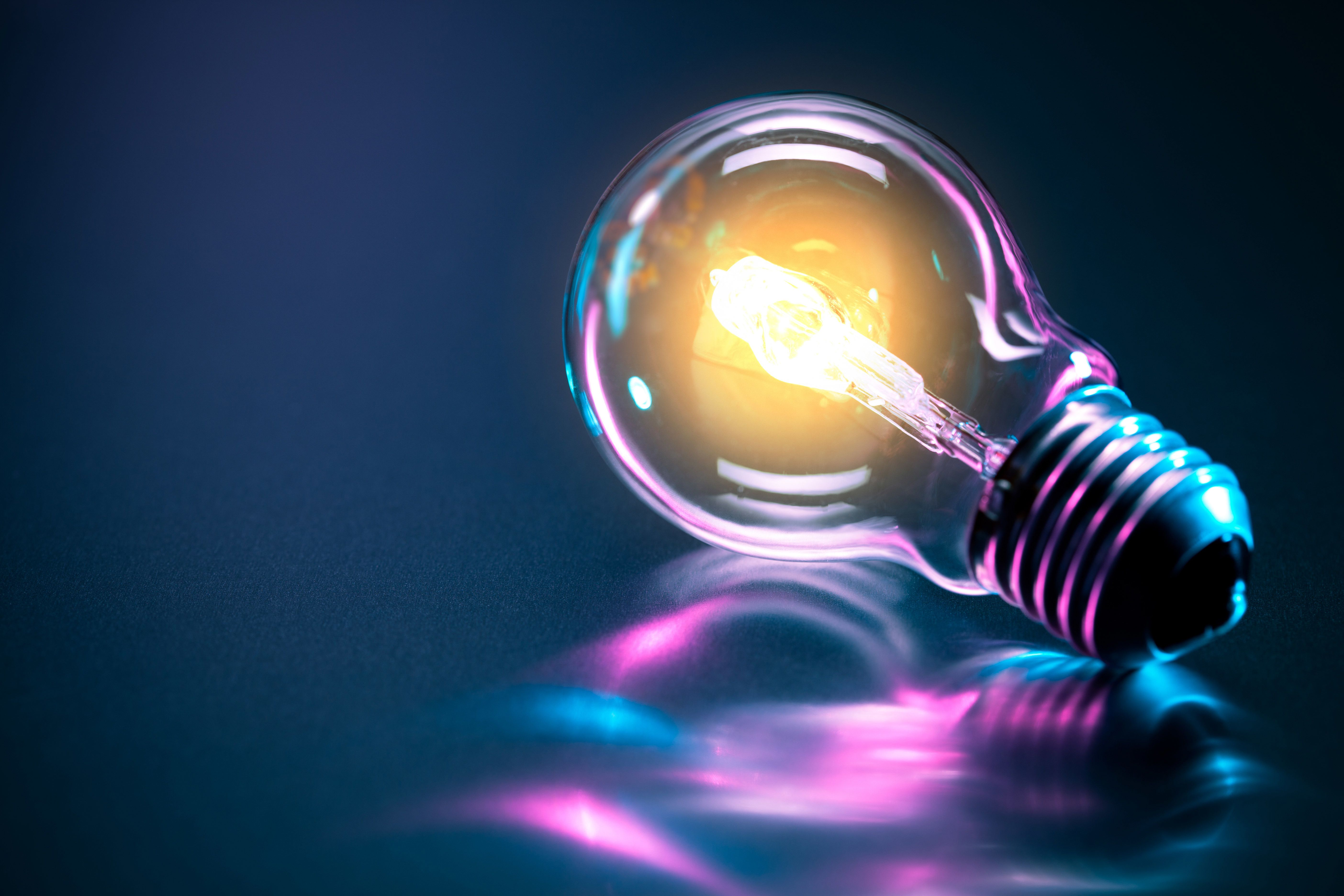 Bulb Neon Reflection Electric Emitte Rendering Backgound Magic4walls Com Electrical Projects Electricity Purple Backgrounds