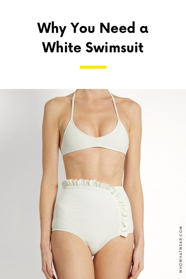 18256ecae7 A white swimsuit looks amazing on every skin tone—here are some of our  favorite picks.