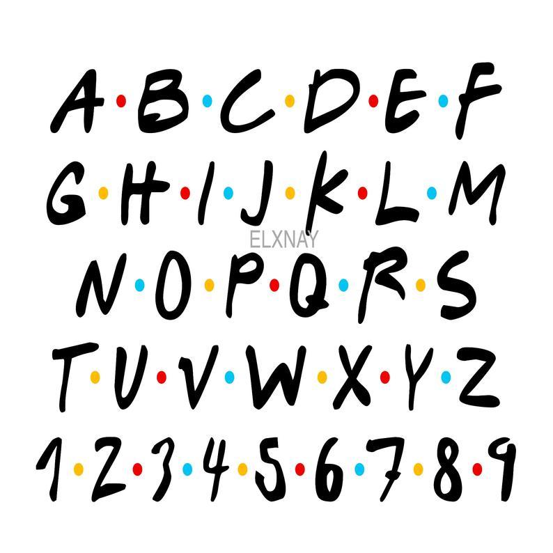 Download FRIENDS fonts - cricut design - t-shirt design tie - SVG ...
