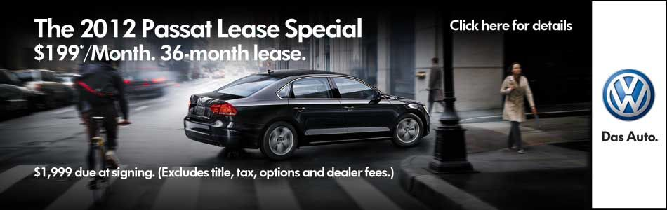 2012 Passat Lease Special! Limited TIme Only! Check out McDonald VW for details. www.mcdonaldvw.com