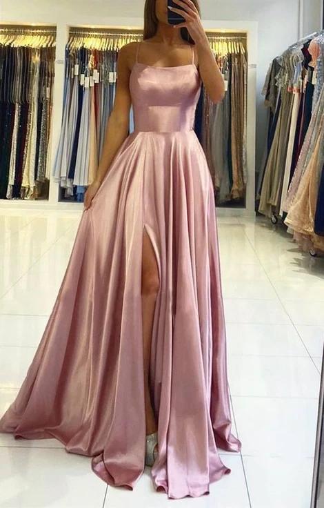 Simple Prom Dresses Long Prom Dresses 8th Graduation Dress School Dance Winter Formal Dress YDP1027