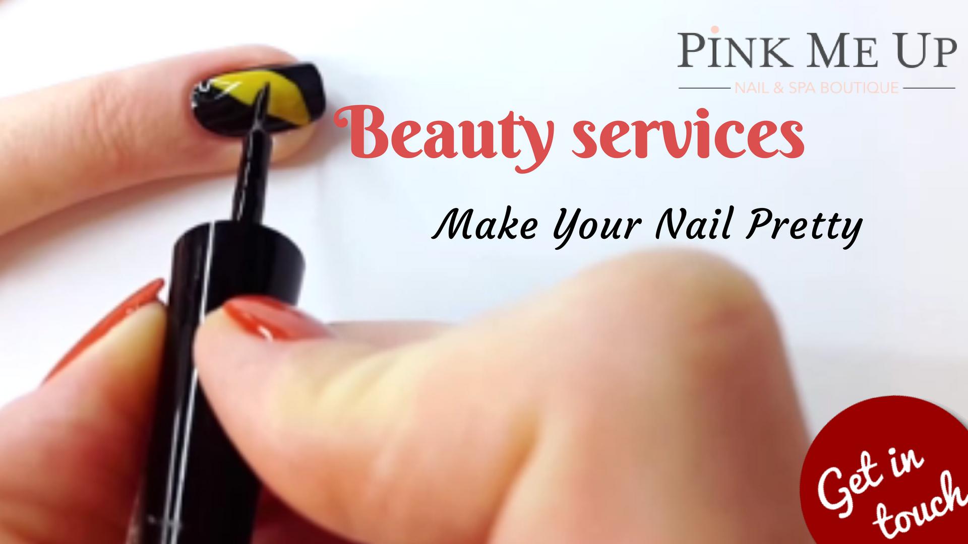 Natural Nail Services In Tarzana Sherman Oaks Pinkmeupnails Com Nail Services Natural Nails Nails
