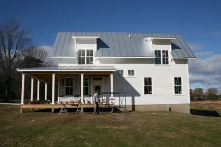 A smaller modern farmhouse in vermont small house for Vermont farmhouse plans