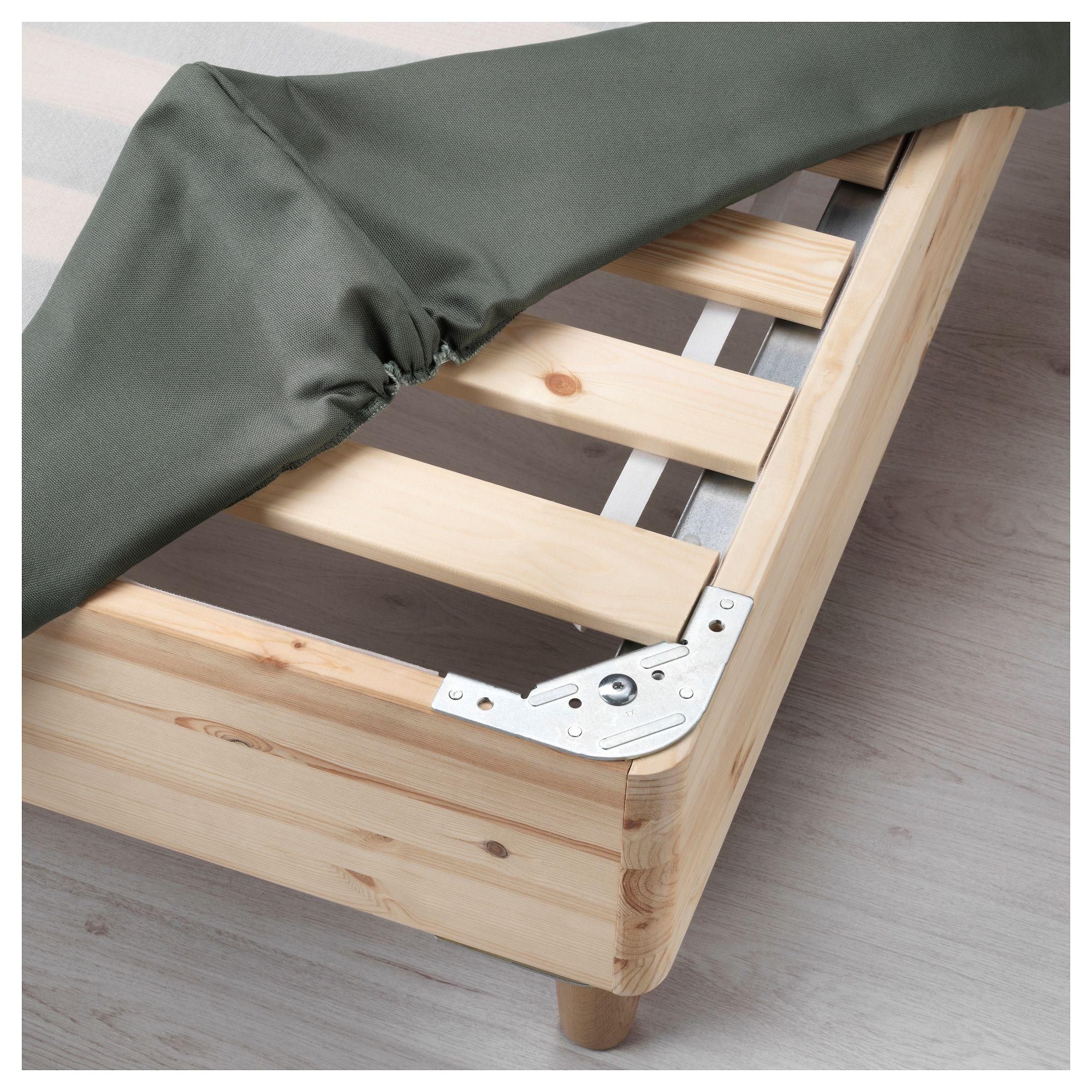 ikea espev r slatted mattress base with legs dark gray. Black Bedroom Furniture Sets. Home Design Ideas
