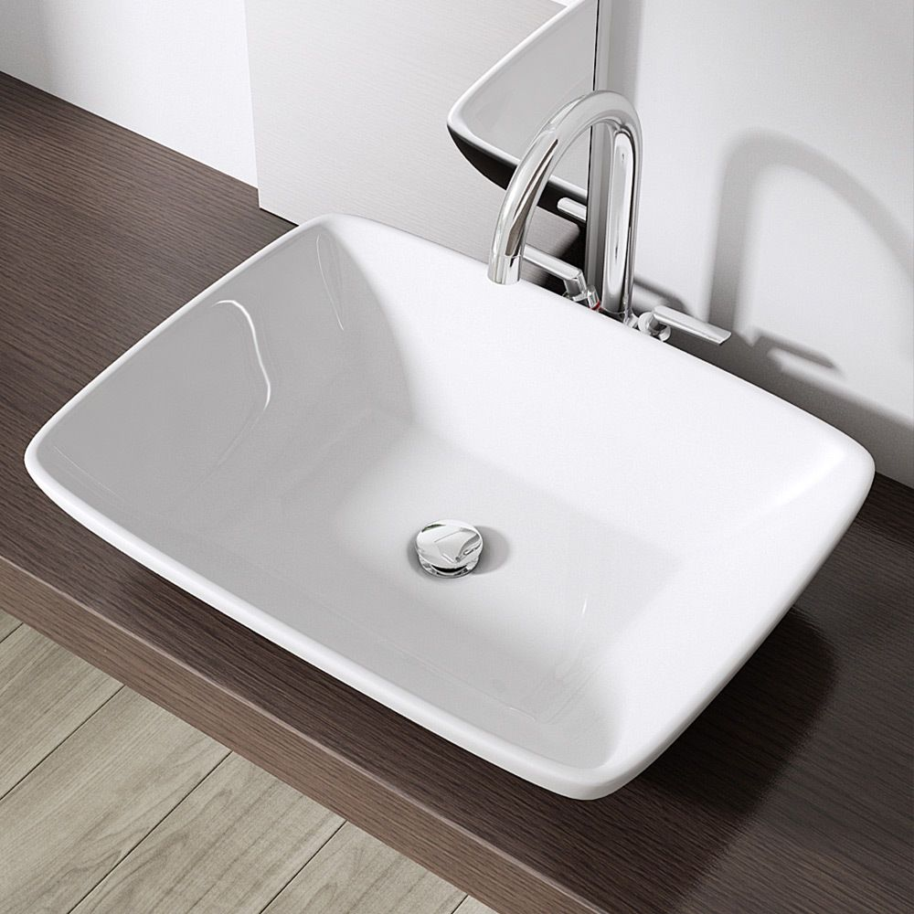 Stylish Modern Square Bathroom Hand Wash Countertop Basin Sink