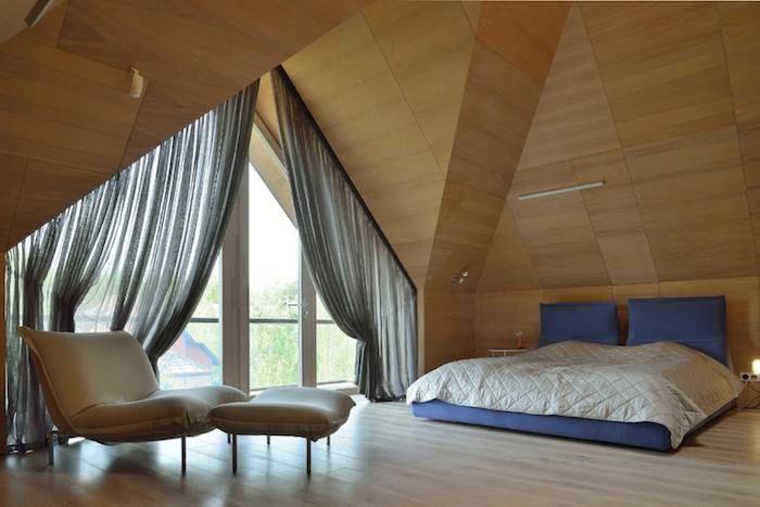 kleine wohnung einrichten schlafzimmer gestaltung vorhänge in grau - vorhänge für schlafzimmer