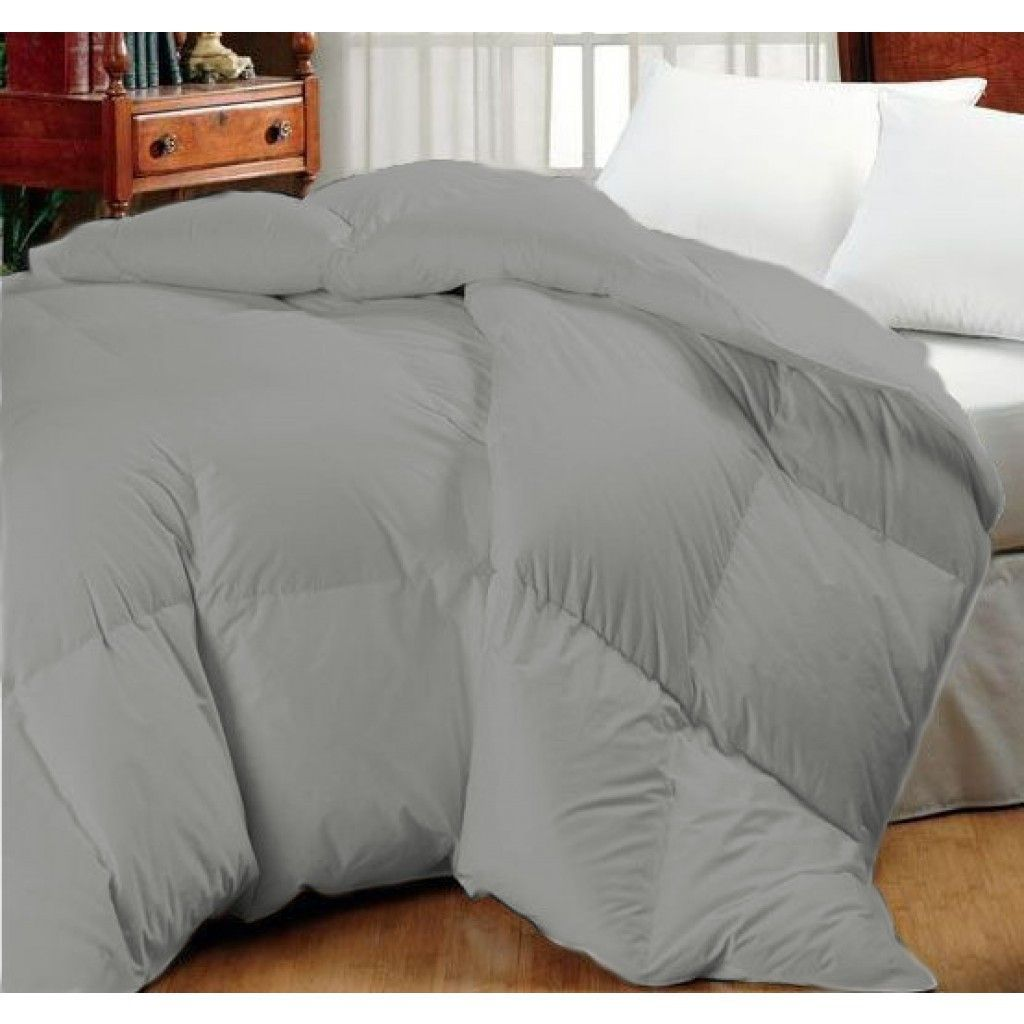 Super Oversized High Quality Down Alternative Comforter Fits Pillow Top Beds Grey Queen 92 X 96 King 110